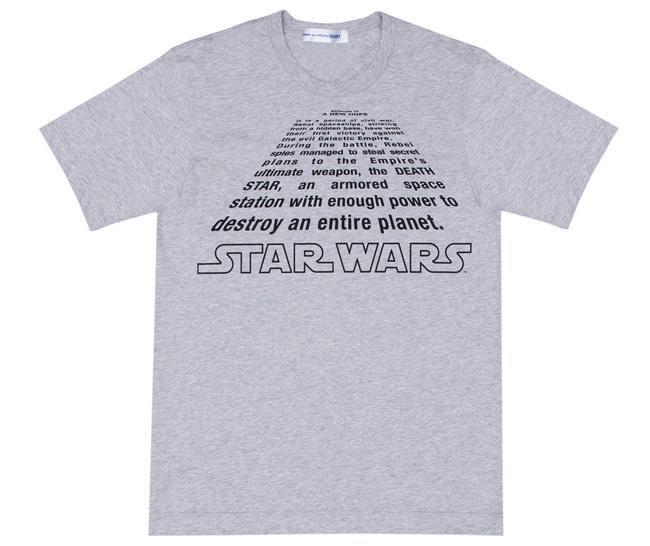 Comme des Garcons Star Wars camiseta gris