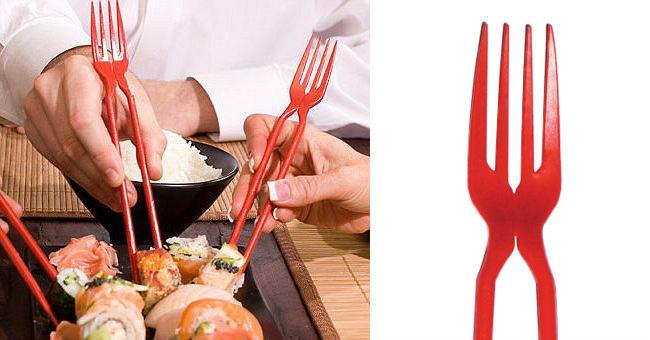 Chork, palillos y tenedor en uno