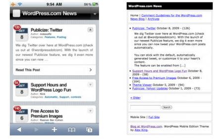 Los blogs de Wordpress.com tendrán versión móvil