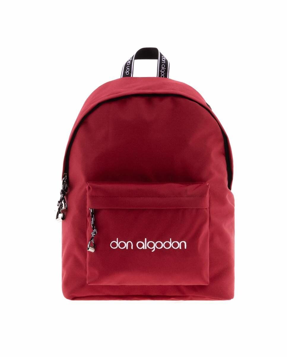 Mochila unisex Don Algodón con puerto USB en color rojo