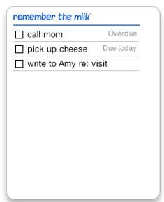 Widget para el Dashboard de Remember the Milk