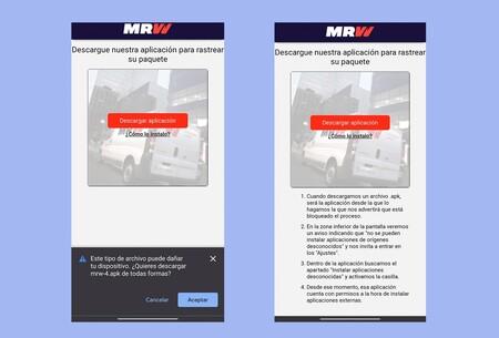 """Flubot, la estafa SMS de FedEx en Android, ahora llega bajo el nombre de MRW en un mensaje así: """"El envio se ha devuelto dos veces"""""""