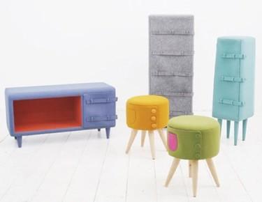 Muebles de fieltro con estilo... y con cinturón
