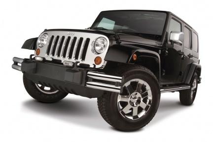 Parrillas cromadas de Mopar para el Jeep Wrangler