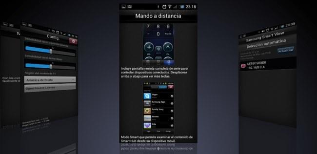 Otras pantallas del tutorial y de la configuración de la aplicación
