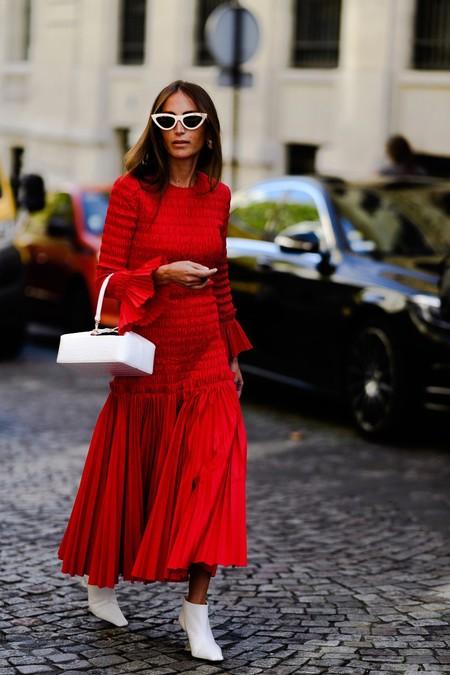 Con Estas Siete Fórmulas Para Combinar Un Vestido Rojo Con