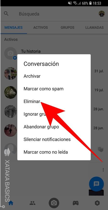 Eliminar Conversacion