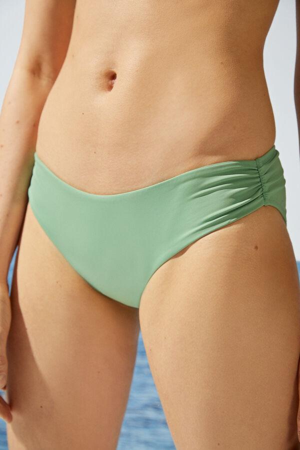 Braga de bikini clásica en verde manzana