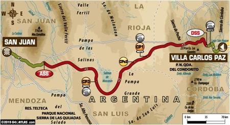 Recorrido Etapa2 Dakar2015