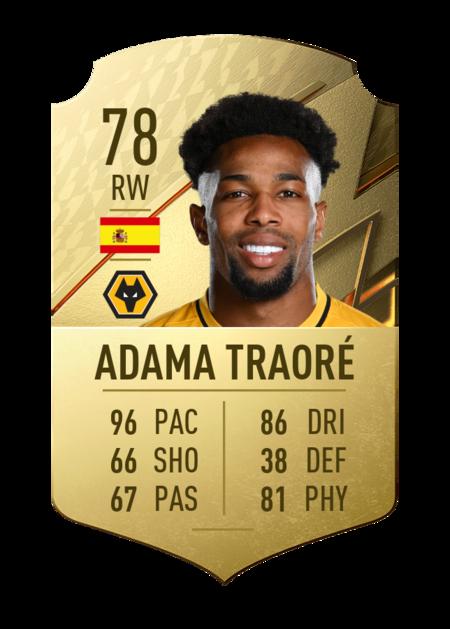 Adama Traoré jugadores más rápidos FIFA 22
