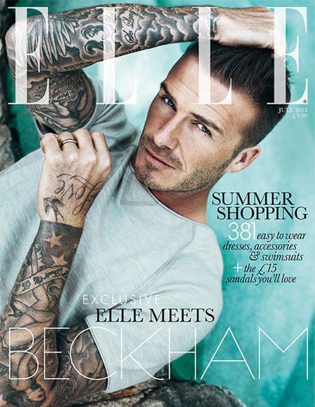 David Beckham protagoniza la primera portada masculina de Elle UK