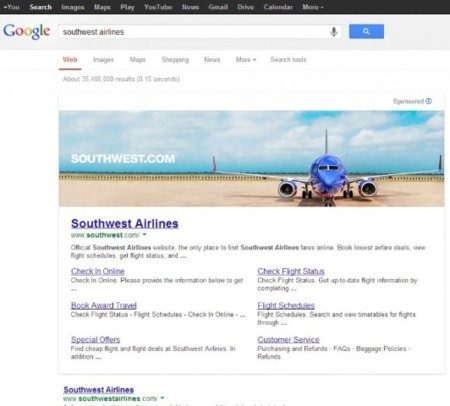 Incumpliendo promesas: Google hace pruebas con imágenes publicitarias en su buscador