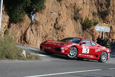 Cinco Ferraris 360 Modena en el Nacional de Rallyes