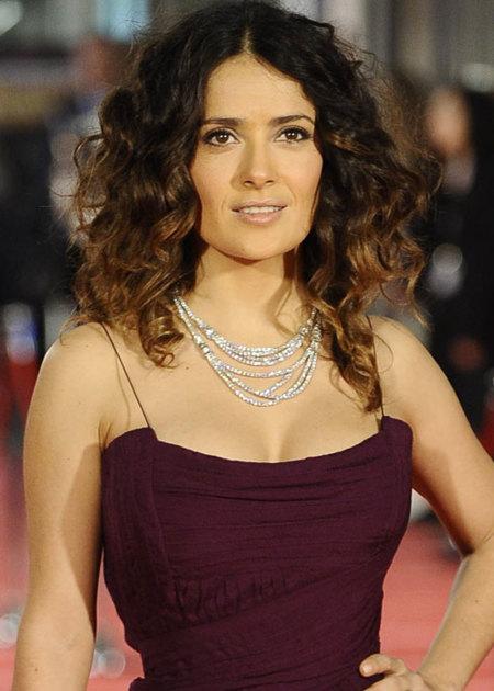 Collar GUcci de Salma Hayek