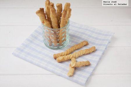 Espirales de queso y mostaza. Receta