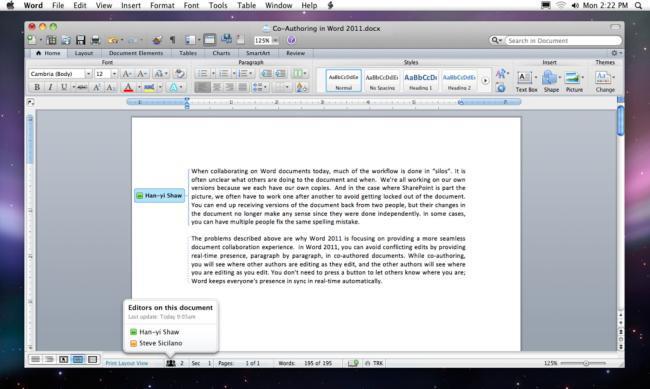 Word 2011 en OS X
