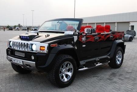 Hummer H2 cabrio con siete plazas