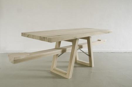 Mesa balancín, para comer en equilibrio