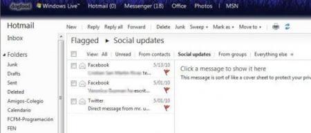 Filtros en Hotmail