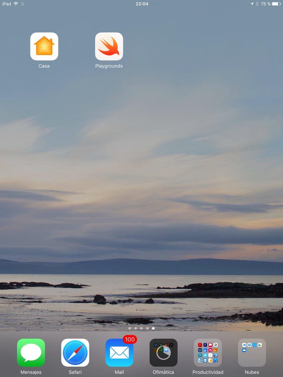 iOS 10 en iPad