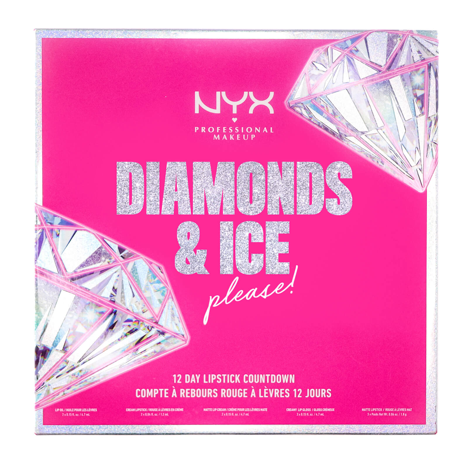 NYX Professional Makeup Diamonds and Ice Please 12 Day Lipstick