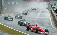 Gran Premio de Brasil 2003: Giancarlo Fisichella se impone en el caos de Interlagos