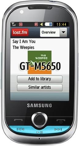 Samsung M5650 se enfoca a la reproducción de música