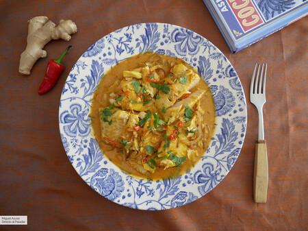 Filetes de pescado en leche de coco