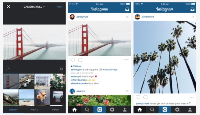 Instagram se actualiza abandonando el formato cuadrado en sus fotografías