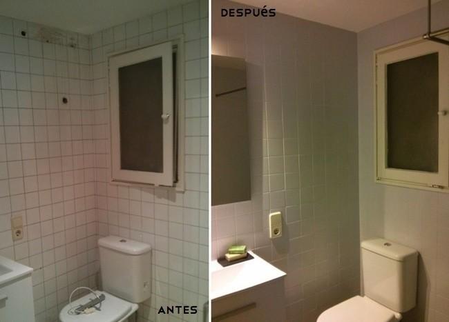 Antes y despu s dos maneras diferentes de renovar un - Pintar bano con hongos ...