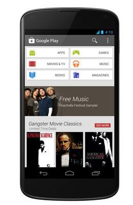 Google Play Store comienza a actualizarse hoy a la versión 4.0 con su nueva interfaz