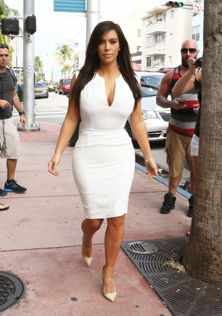kim kardashian blanco