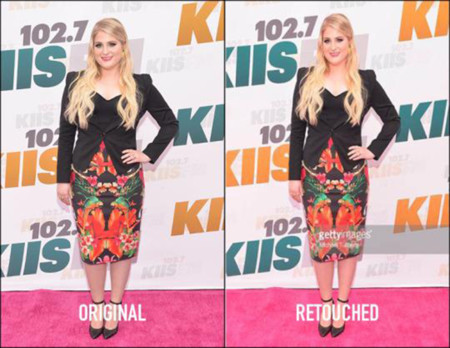 Meghan Trainor Ted Baker Retoque Photoshop 1