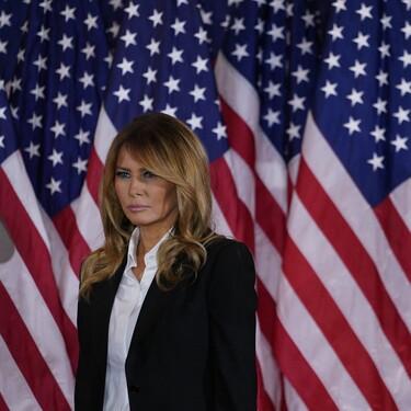 La noche electoral de Melania Trump se viste de negro