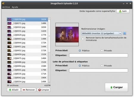 ImageShack Uploader oficial para Ubuntu