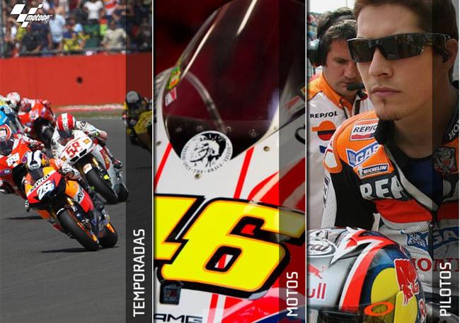 Menu de MotoGP History