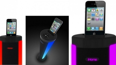 iHome iP76,  altavoces con iluminación LED para nuestros smartphones