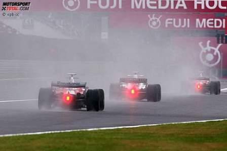 Robert Kubica, el más rápido en una húmeda sesión de libres