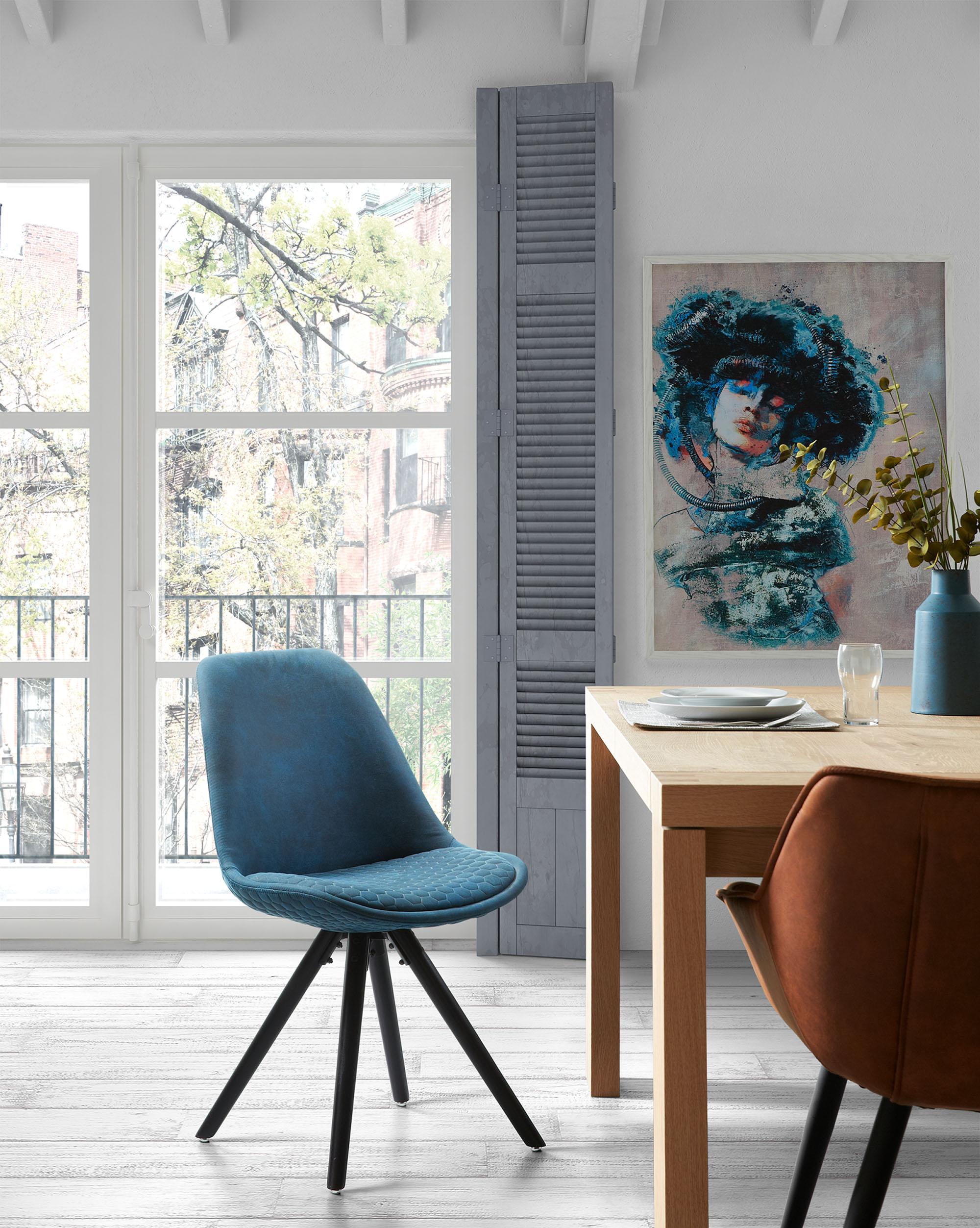 Silla de escritorio tapizada