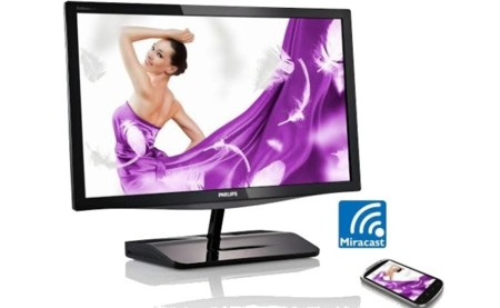 Replica inalámbricamente vía Miracast la pantalla de tu móvil en el nuevo monitor Philips