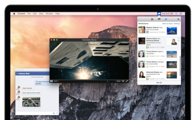 Current  nos permite utilizar Facebook en Mac  de forma nativa