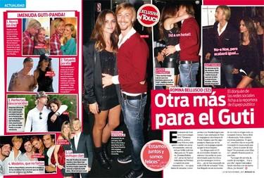 Anonadada me hallo, ¡que es verdad que Guti y Romina Belluscio están juntos!