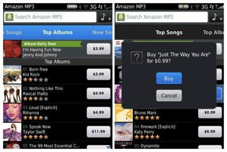 Amazon MP3 Store para BlackBerry ya disponible en versión beta