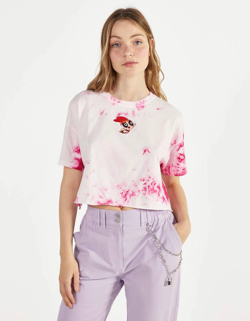 Camiseta tie dye Las Supernenas x Bershka