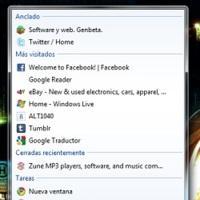 La última Dev release de Chrome añade Jump Lists en Windows 7