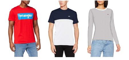 Chollos en tallas sueltas de camisetas de marcas como Wrangler, Levi's, Vans o Pepe Jeans en Amazon por menos de 20 euros