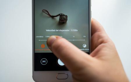 Interfaz de la app de cámara