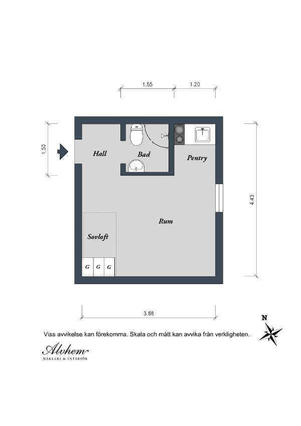 Una casa de 17 metros cuadrados en Suecia