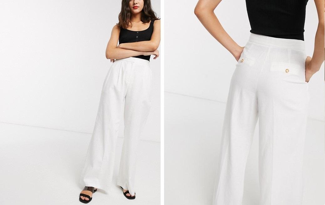 Pantalones palazzo de lino