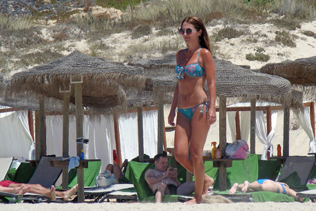 paula echevarria bikini playa